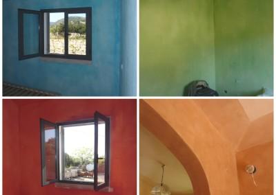 colori con calce e terre