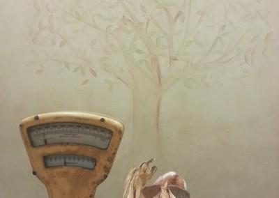 decorazione su marmorino