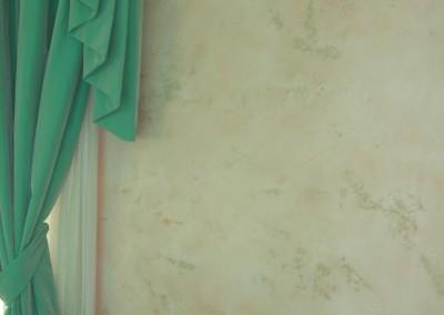 stucco materico con due colori