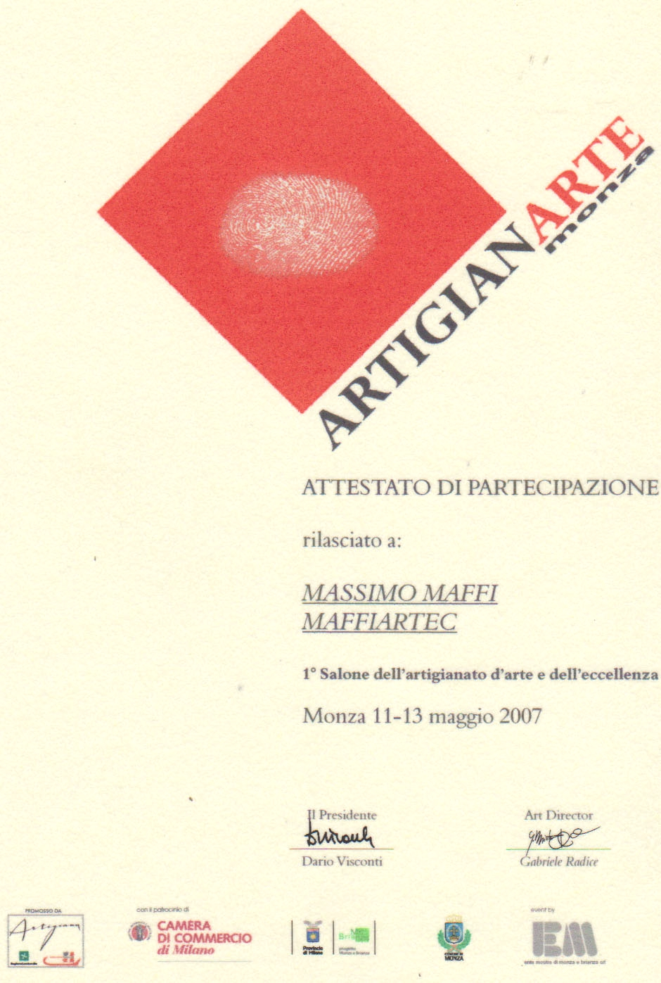 2007 ARTIGIANARTE  Monza Brianza