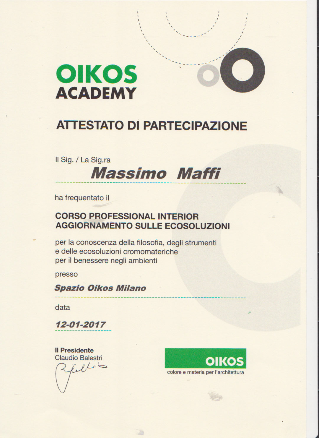 corso professional interior OIKOS